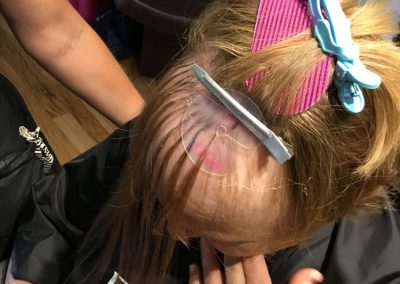Client Prep Hair Extensions Process