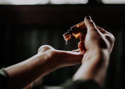 Massage Hands with Essential Oils